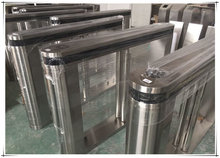 RFID access control and fingerprint time attendance fastlane 304 stainless steel swing gate turnstile