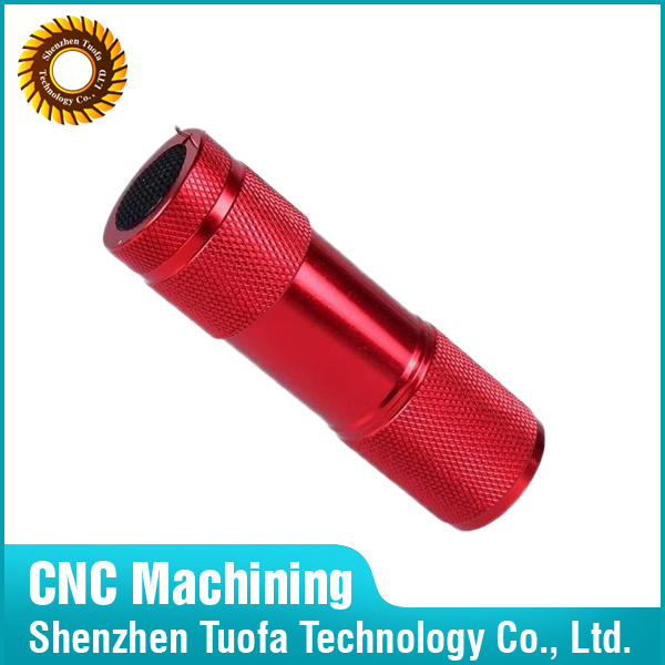 Shenzhen custom CNC machining service colored anodized aluminum tubing