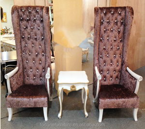 new classical design high back wing chair for hotel lobby salon furniture FC-H008