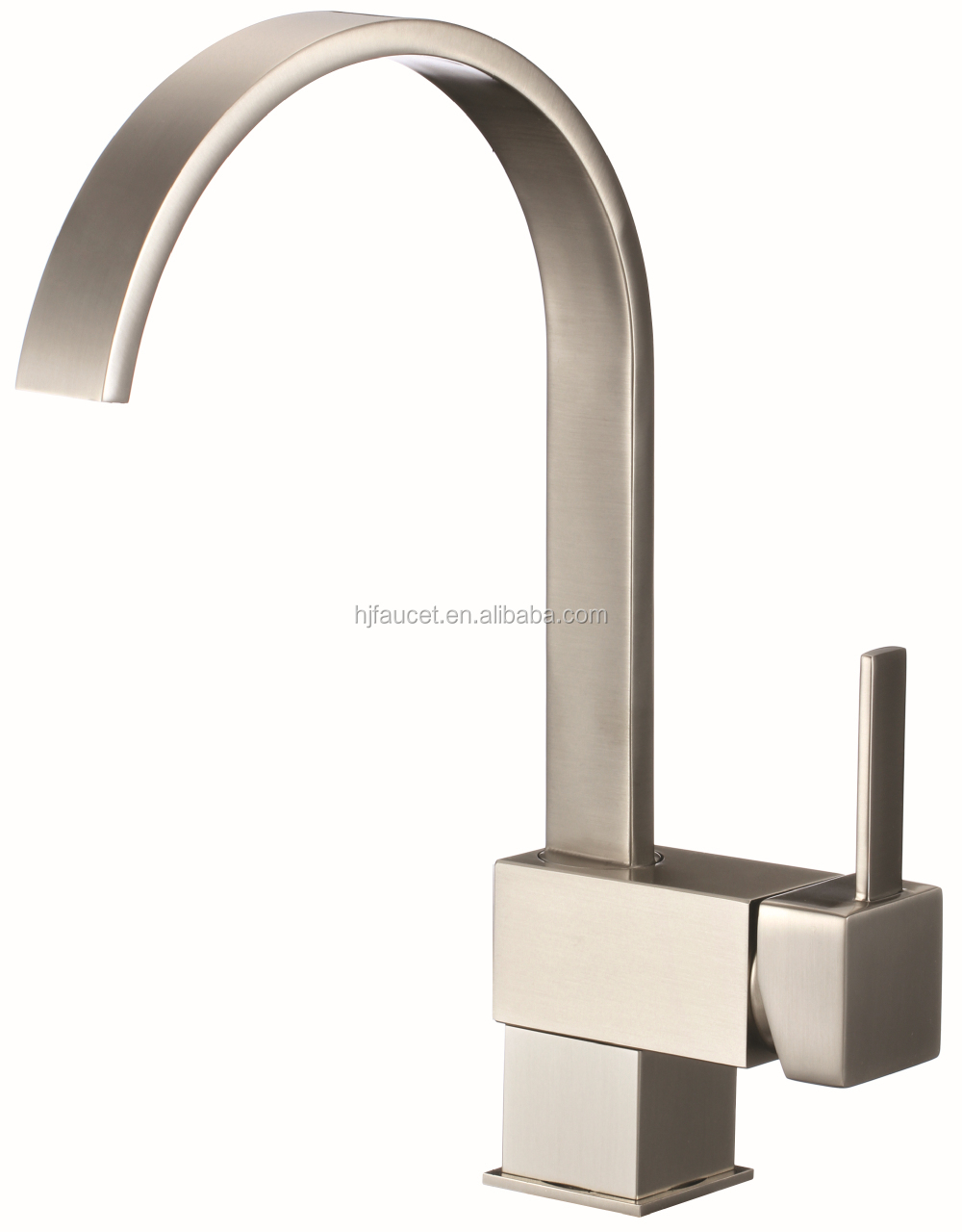 upc 61-9 nsf waterfall brushed nickel kitchen faucet(82H08-BN)