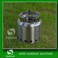 fashion light and handy oak wood carbonization stove