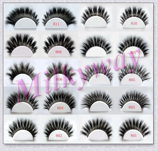 Milkyway fashion style horse hair full strip lashes 810