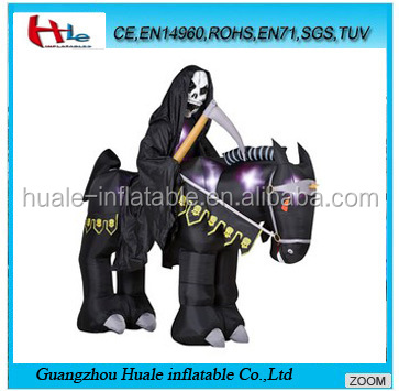 Inflatable devil in black horse,inflatable halloween products