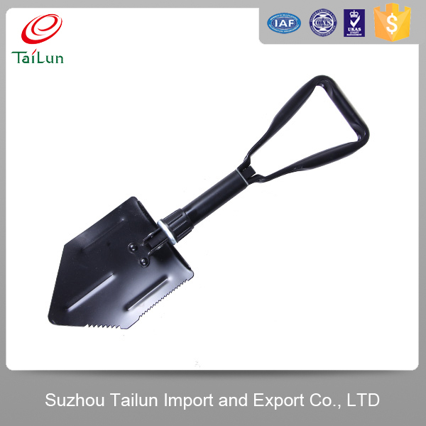 garden High Carbon collapsible Flat Shovel With Long Wooden Handle