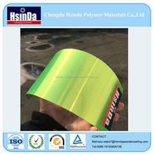Transparent Candy fluorescent green powder coating paint