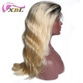 Blonde human hair body wave full lace wig