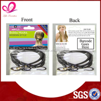 Wholesale fashion woman scrunchies hair accessory with metal hook for hair