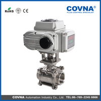 Plastic electric ball valve with high quality