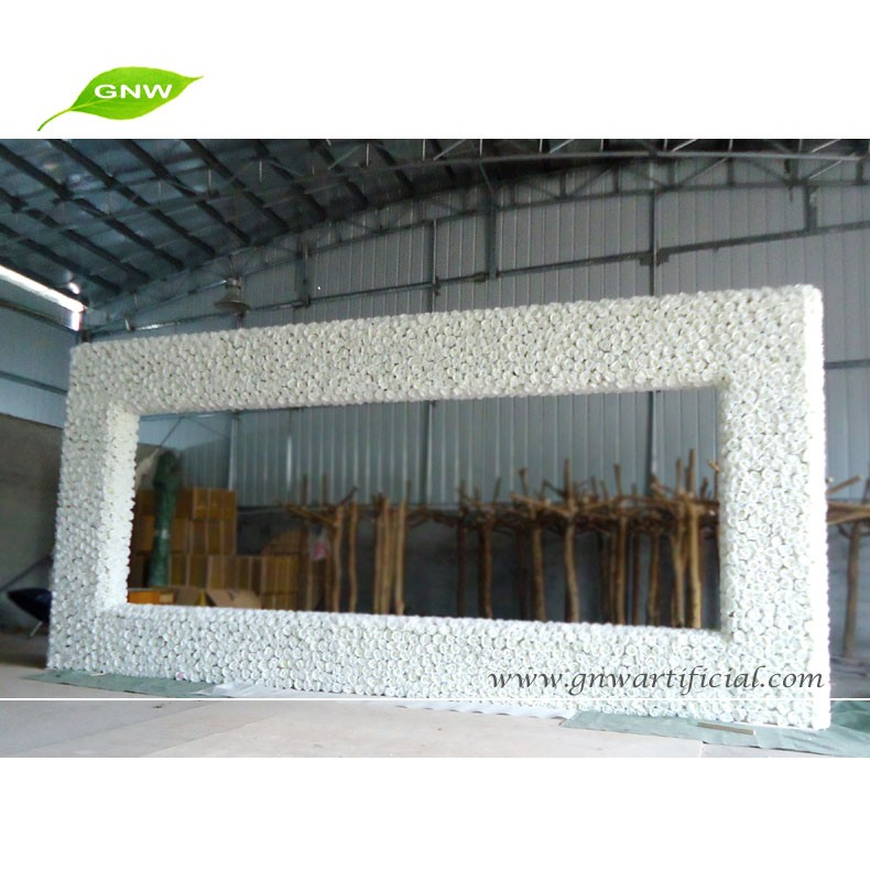 GNW FLA1603001-W01 New arrival wholesale Wedding flower entrance with white Wisteria