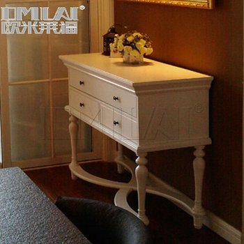 Wooden vintage console table