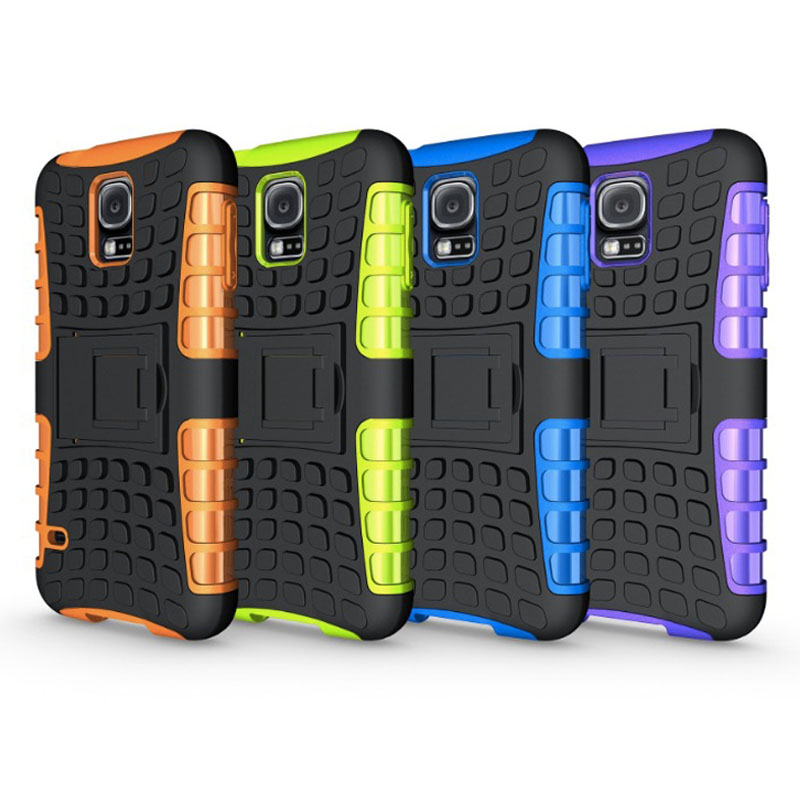 Black Orange Shockproof Heavy Duty PC TPU Cover For Samsung Galaxy S5 Armor case