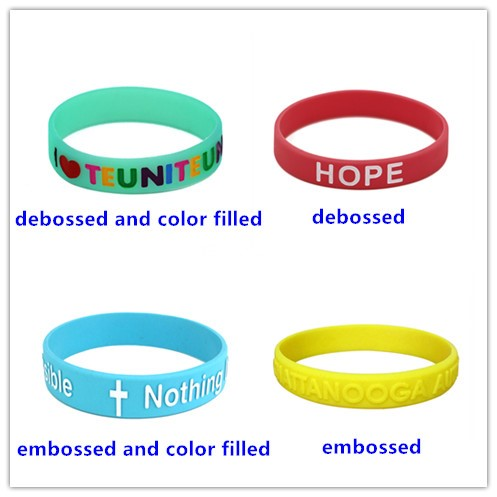 embossed silicone wristband,NBA debossed silicone wristband