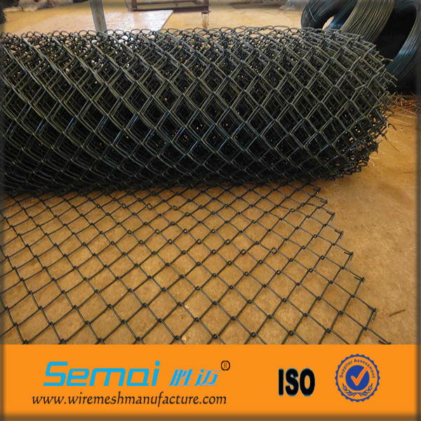 Cheap PVC Coated Thick Wire 9 Gauge Chain Link Wire Mesh Fence