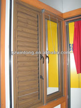 aluminium shutter window with manual opening device