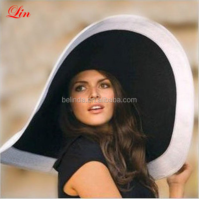 big wide brim sun visor floppy summer protection wholesale woman lady beach paper straw hat
