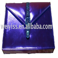 Elegant purple lady's dressing case fashion cosmetic bag for promotion gifts