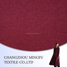 cheap dark red colour wool suit fabric, woven woolen fabric ready in stock