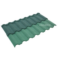 Shingles Zinc Roofing Monier French Synthetic Spanish Steel Stone Coated Roof Tiles , Roof Tile Metal Stone coated