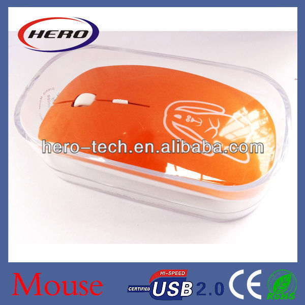 Flat slim mouse 2.4GHz wireless