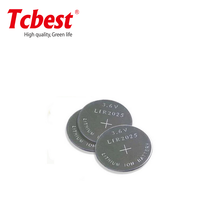 3.7V li-ion battery LIR2025 lithium recharge coin cells with pins