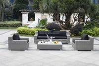 Patio large 4pcs three seater sofa/ Outdoor rattan sofa polywood table
