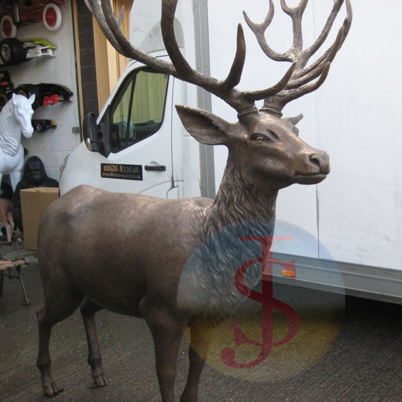 New design bronze red deer stag for Public Decoration
