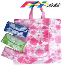 FH OPP Laminated Cute Design Shopping Foldable Non Woven Tote Bags
