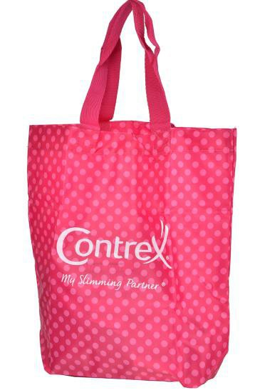 Lovely pink promot custom shop bag, shopping tote bag