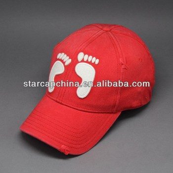 CUSTOM CHEAP WORN-OUT 3D EMBROIDERY BASEBALL CAP