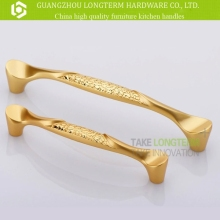 Beautiful gold color zinc alloy fancy new cabinet handles