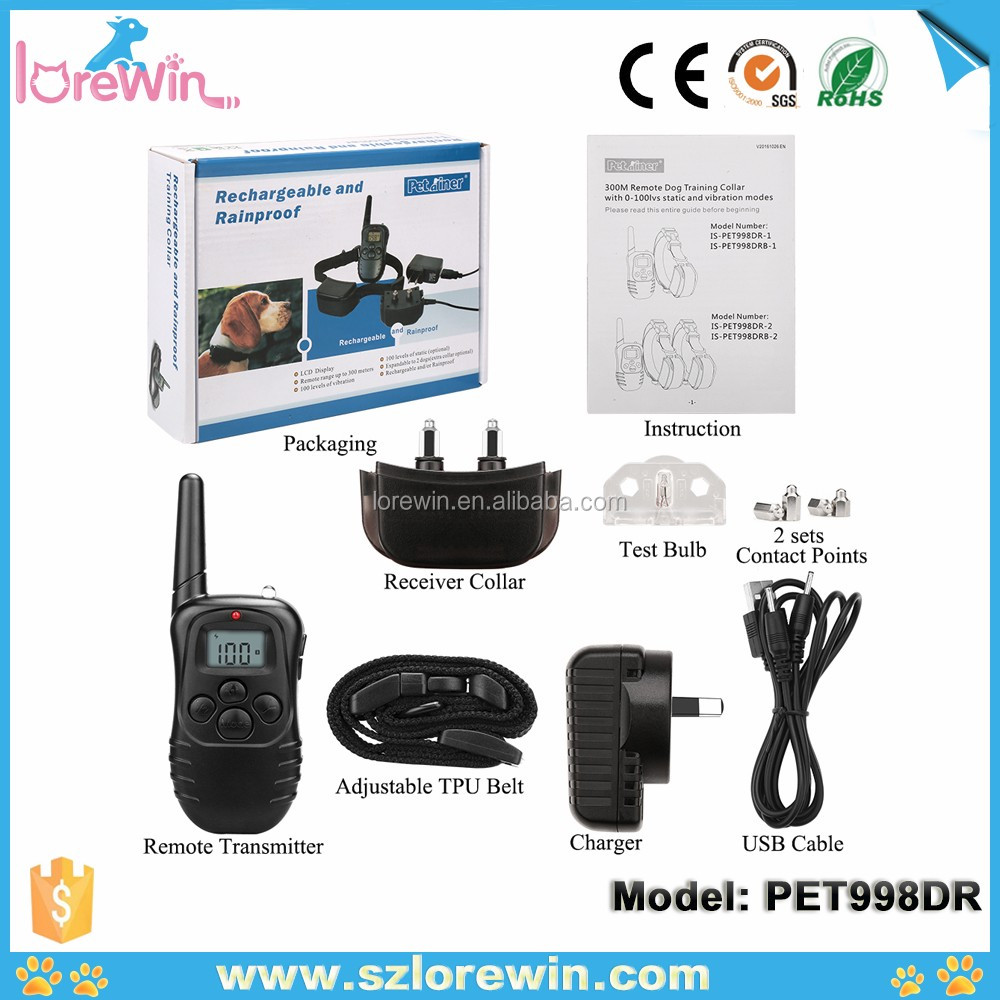 Best electronic dog training shock collar for 2 dogs PET998DR