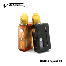 free shipping handy size vzone simply squonk kit tesla mod 2000w tc box mod 300ml glass juice bottle