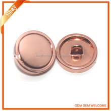 Rose gold custom made metal sewing button for clothing