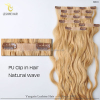 2016 Best Selling Remy New Design Brand Name clip in coarse yaki human hair extensions