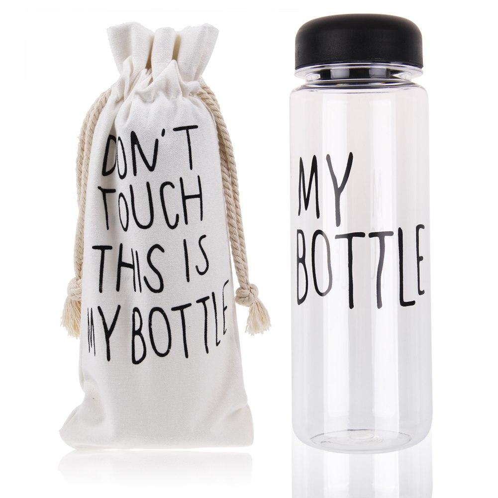 Portable Clear Bear Bottle Sport Plastic Fruit Juice Water Cup Travel Bottle