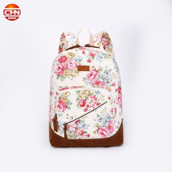 girls Fashion school Bags 2018 lady canvas school Bag women beautiful backpack