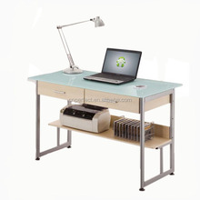 Modern HOT SALE Office Desk wholesale glass computer desk with matal legs