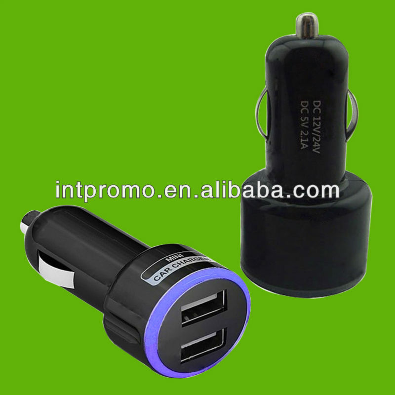5V 2.1A high speed dual usb mobile phone car charger
