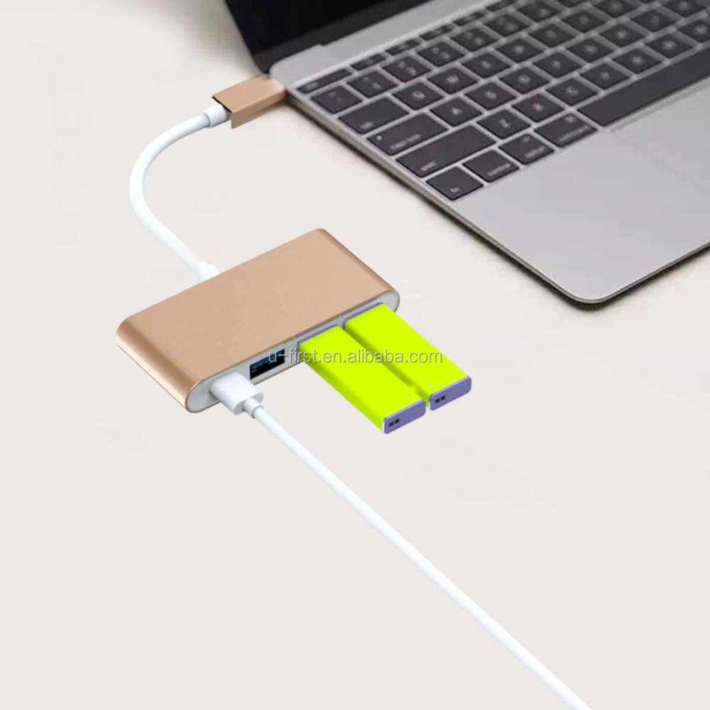 Factory wholesale Hub Type C USB 3.1 Male To DP Female Adaptor Cable, USB 3.1 Type-C PD Hub to USB3.0 Type-C for Chromebook Pix