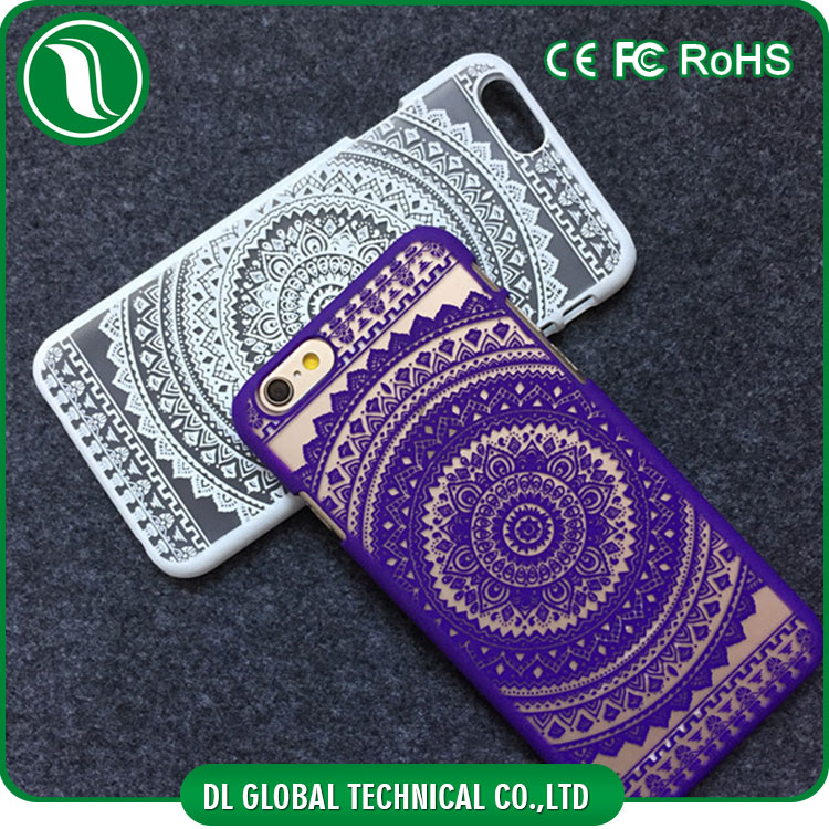 Wholesale cell phone case transparent decorative design matte pc case for iphone 6 case