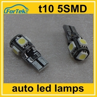 error free led car width lamp T10 canbus 5050 5SMD 0.5W for halogen replacement