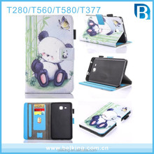 Tablet Cartoon Stand Leather Case For Samsung Galaxy Tab T280 Leather Case
