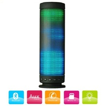 Wireless Portable Bluetooth 4.0 Tower Vase Stereo Speaker with LED Light