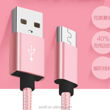 Hot Selling USB Shielded High Speed Cable 2.0 Nylon Braided Mobile Data Cable