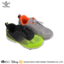 Boys breathable soft lace up running sport kids shoes manufacturers china
