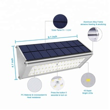 Hot selling 48 LED Aluminum Solar Power Outdoor Garden Wall Light with Low Price