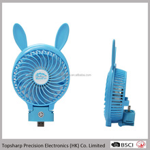 New design mini cartoon travelling chargeable 5v dc folding portable fan