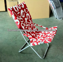 Foldable sun chair of camping furniture.