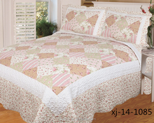 2015 latest new fashion patchwork quilt bedsheet,quilt for adult beds with pillowcase