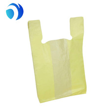 HDPE LDPE custom LOGO printed t-shirt vest handle carrier carry out plastic shopping bag